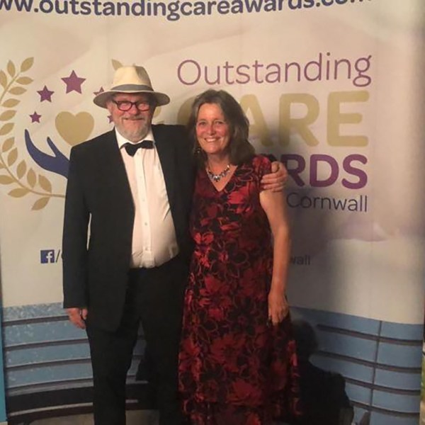 Joy and Bou Roodenburg won the Supported Living care award at the Outstanding Care Awards for Devon and Cornwall