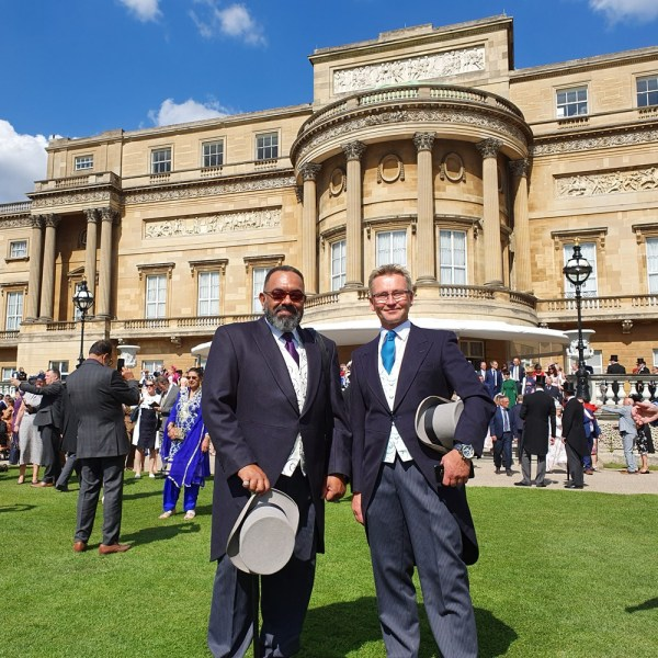 Shared Lives South West carers Jeff and Jason enjoy Buckingham Palace Garden Party