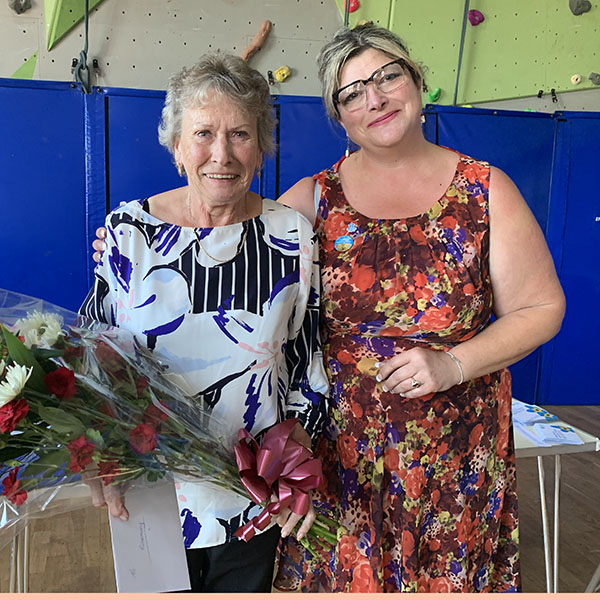 Rosemary, who has been a Shared Lives South West Carer for many years has retired. She's pictured with Shared Lives Coordinator Sarah Casey