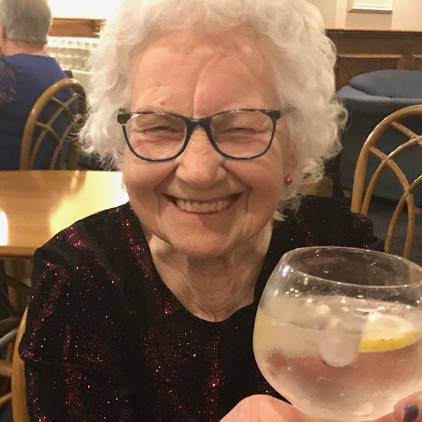 Ursula, who uses Shared Lives South West services, enjoyed her 90th birthday in the Isle of Wight