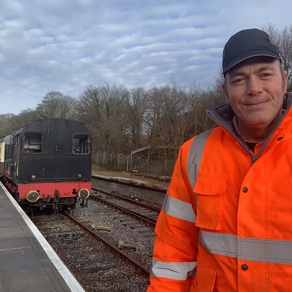 Matt, who uses Shared Lives South West services, is a volunteer at Plym Valley Railway