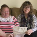 Anna who has moved into her own flat and has support from Shared Lives South West Carer Dawn Jago