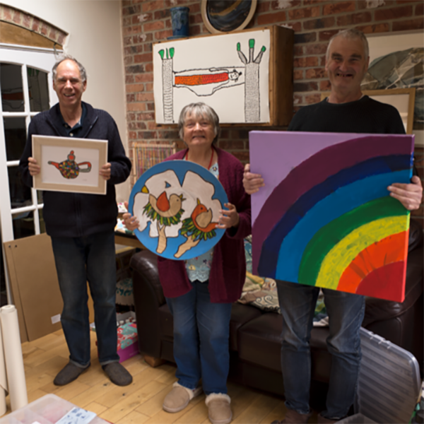 Artwork to raise money for the NHS and Covid-19 Appeal by Ivor, Carol and Peter