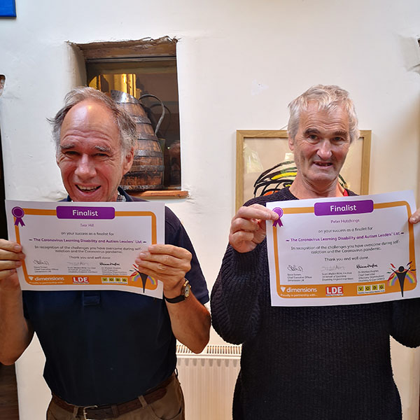 Ivor and Peter finalist in Dimension Learning leaders list WEB - Artists Ivor and Peter finalists in Coronavirus Learning Disability and Autism Leaders' List